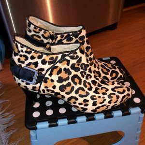 Cole Haan Cheetah Print Booties